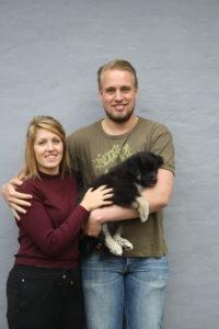 Lisa og Michael med Avara